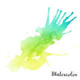 Vattenfärgfläck Arkivfoto