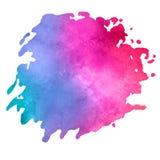 Vattenfärgfläck med aquarellemålarfärgfläcken Royaltyfri Fotografi