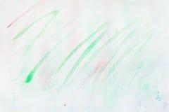 Vattenfärgfläckar, slaglängder av gröna skuggor abstrakt bakgrundsvattenfärg Delikata skuggor av mjuka vårfärger Arkivbild