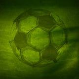 Vattenfärgfotbollboll Fotografering för Bildbyråer