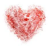 Vattenfärghjärta. Begrepp - förälskelse, förhållande, Royaltyfria Bilder