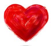 Vattenfärghjärta. Begrepp - förälskelse, förhållande, Royaltyfria Foton