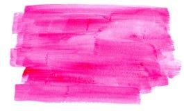 Vattenfärghorisontalfuchsia Arkivbild