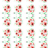 Vattenfärgillustration av en blomma Arkivfoto