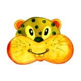Vattenfärgillustration med en bild av en hamstergnagare För design av tryck kort, etiketter royaltyfri illustrationer