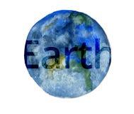 Vattenfärgillustration - solsystemplanet vektor illustrationer
