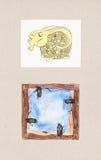 Vattenfärgillustrationer av djura teman Royaltyfria Foton