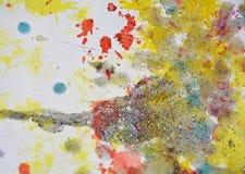 Vattenfärgmålarfärg i mousserande toner och färger Royaltyfri Foto