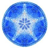 Vattenfärgmandala Dekoren för din design, snör åt prydnaden royaltyfri foto