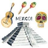 VattenfärgMexico symboler Royaltyfria Foton