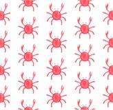 Vattenfärgmodell av krabbor Undervattens- invånare på en vit bakgrund vektor illustrationer