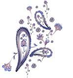 VattenfärgPaisley design Arkivbild
