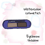 Vattenfärgskönhetsmedel Vattenfärgögonbrynskugga på en suddig bakgrund Arkivfoto