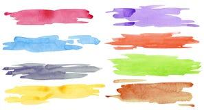 Vattenfärgslaglängder vektor illustrationer