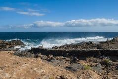 Vattenfärgstänk på havet Royaltyfri Foto
