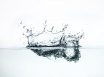 Vattenfärgstänkbakgrund Arkivfoto