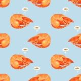Vattenfärgtecken av gulligt den kattsova och drömmen om en fisk royaltyfri illustrationer