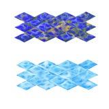 Vattenfärgtextur isolerade geometriskt objekt stock illustrationer