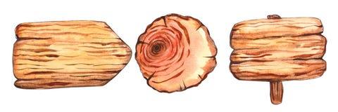 Vattenfärgträskivaclipart lantligt royaltyfri illustrationer
