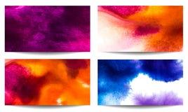 Vattenfärgvektorbaner vektor illustrationer