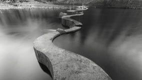 Vattenfördämning på floden Svisloch Arkivbilder