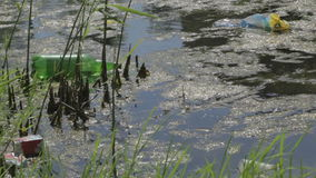 Vattenförorening. lager videofilmer