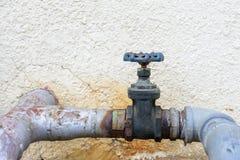 Vattenförsörjningströmförsörjningsrörledning Royaltyfria Foton