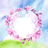 Vattenf?rgbukett av blommor vektor illustrationer