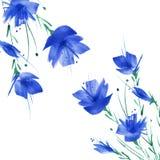 Vattenf?rgbukett av blommor stock illustrationer