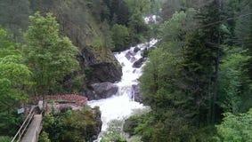 Vattenfall Abchazien, berg, natur, gräsplan, vår, tradition, förälskelse Arkivbilder