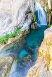 Vattenfall av algar (Fuente de Algar) Royaltyfri Foto