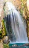 Vattenfall av algar (Fuente de Algar) Arkivfoton