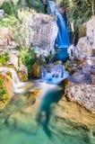 Vattenfall av algar (Fuente de Algar) Royaltyfria Foton