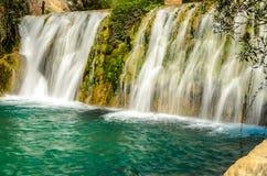Vattenfall av algar (Fuente de Algar) Royaltyfri Fotografi