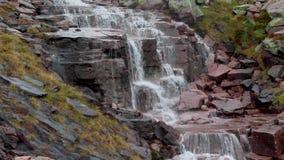 Vattenfall av flodbuidhen på röktopasplatån som går in i fjorden avon lager videofilmer