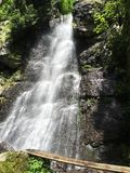 Vattenfall Bystre, Polana, Slovakien, Europa Royaltyfria Bilder