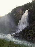 Vattenfall Espelandsfossen Arkivfoto