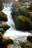 vattenfall för 1 nationalparkplitvice Arkivfoto
