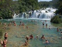 vattenfall för bukkrkaskradinski Arkivbild