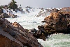 vattenfall för champasakkhonglaos peng pha arkivfoto