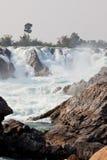 vattenfall för champasakkhonglaos peng pha arkivbilder