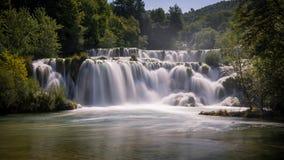 vattenfall för croatia nationalparkplitvice croatia krkanationalpark Fotografering för Bildbyråer