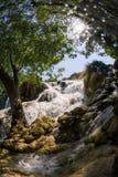 vattenfall för croatia nationalparkplitvice croatia krkanationalpark Royaltyfri Foto