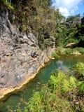 Vattenfall för El Nicho Arkivbilder