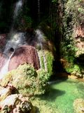 Vattenfall för El Nicho Arkivfoton