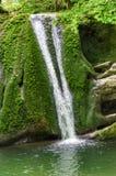 Vattenfall för Janet ` s Foss i de Yorkshire dalarna Arkivbilder