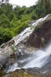Vattenfall för naturlig bakgrund Fotografering för Bildbyråer