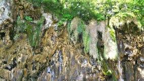 vattenfall för plitvice för croatia lakesnationalpark sostavtsy stock video
