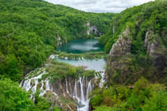 vattenfall för plitvice för croatia lakesnationalpark sostavtsy Arkivfoton