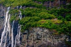 vattenfall för sju systrar Royaltyfri Bild